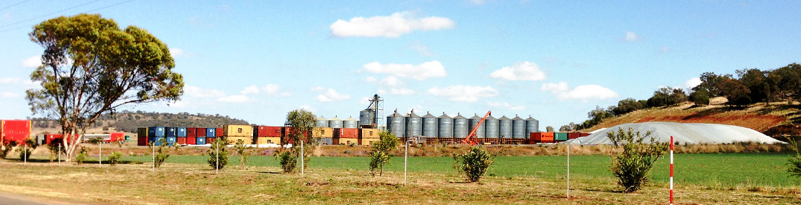 View of Grainhart's Warrego Highway Oakey facilities