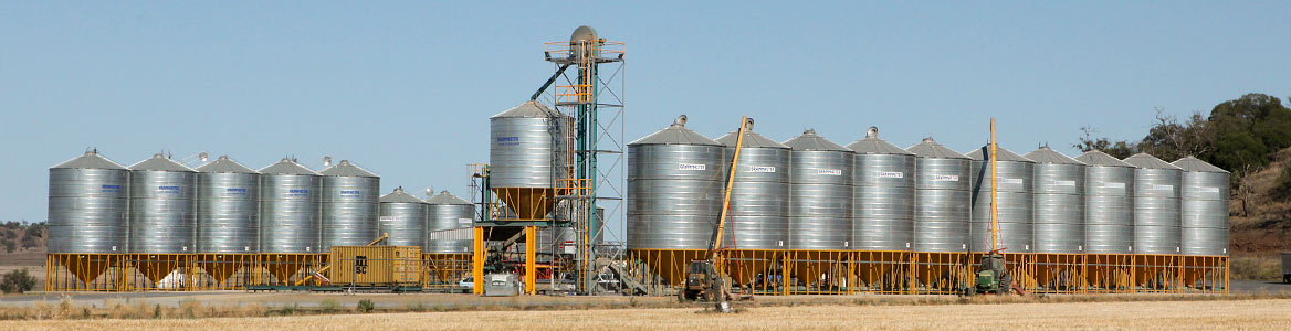 Grainhart's bulk grain storage facilities